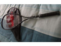 Wilson squash racket rarely used with cover