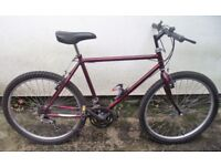 """GENTS RALEIGH CYCLE 80s/90s VINTAGE 20"""" FRAME 26"""" WHEELS NEW TYRES SERVICED"""