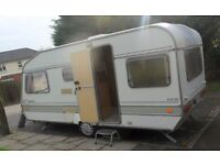 1992 ABI 4 BERTH CARAVAN ( END BEDROOM) PLUS AWNING AND EXTRAS