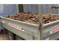 Tipping Trailer load of horse manure delivered