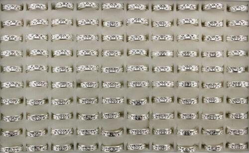 50pcs Wholesale Lots Stainless Steel Rotation Rings Women Men