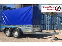 Brand New Twin Axle 750kg Trailer 8'8 x 4'1. TOW WITH STANDARD DRIVING LICENCE