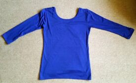 Blue 3/4 sleeve top Size M