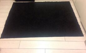 Black rug 120x170. Excellent condition