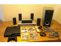 PS3 (Blu-ray, DVD PLayer) + Sony 5.1 surround system in perfect working and cosmetic condition