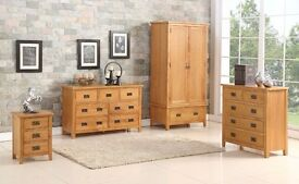 BERWICK RANGE NATURAL OAK SELECTION OF BEDROOM FURNITURE SET – SET OF FURNITURE FOR THE BEDROOM