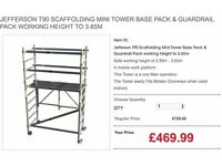 JEFFERSON T90 SCAFFOLDING MINI TOWER BASE PACK & GUARDRAIL PACK WORKING HEIGHT TO 3.65M