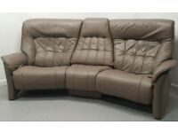 Himolla Stressless Leather Curve 3 seater recliner sofa 249202