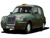 Black Taxi available for hire (non-radio)