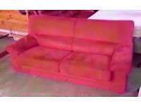 Three seater sofa bed, becomes a double bed in good condition
