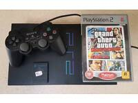 Sony PS2 with Grand Theft Auto