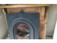 Celtic design fireplace.