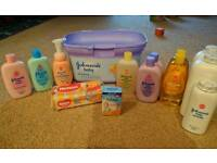 Baby Essentials Johnsons box with few extras. Bought But Never used or opened.