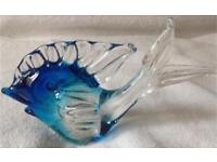 Murano Blue Fish Paperweight