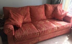 Collins & Hayes 3 to 4 seater settee, please read description