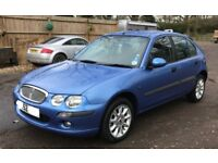 Rover 25 spirite S, 5 door H/B, 2002 for sale, MOT, 2 former keepers, drives well.