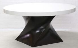 ROBERT KUO DESIGNER HELIX 11 BRONZE DINING TABLE COST £10000 VGC SELLING FOR NHS NURSES CHARITY
