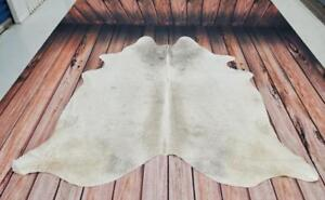 Grey Cowhide Rug Large Brazilian Peau De Vache 76 X 76 Inches 1527