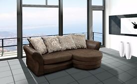 50% reduction from RRP on these stunning Bolero Corner sofa's**brown or grey chenille fabric