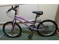 "GIRLS BIKE MAXIMA CRUSH 20"" WHEELS 6 GEARS HARDLY USED IDEAL CHRISTMAS GIFT."