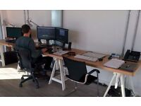 Modern Open plan creative workspace / deskspaces available for hire in Stratford