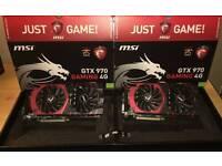 Two SLi GeForce 970GTX Twin Frozen OC Gamer Graphic Cards