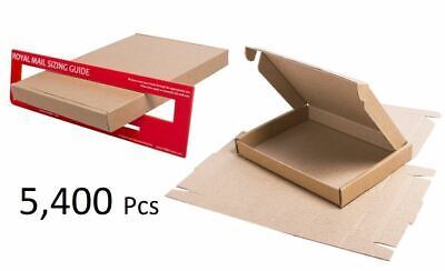 5,400 x Royal Mail Large Letter Cardboard Postal Mailing PiP Boxes 217x108x20mm