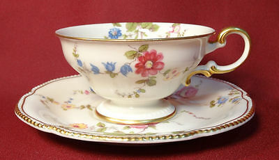 Castleton China SUNNYVALE Coffee Cup & Saucer - Early Lyre Mark USA