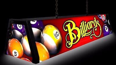 **SALE**  RED BILLIARDS Backlit Pool Table Light  Lamp Billiard Table