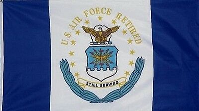 3 X 4 Flag US Air Force RETIRED 3'X4' USAF 3' X 4' Dept Seal STILL SERVING