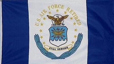 3 X 4 Flag US Air Force RETIRED 3'X4' USAF 3' X 4' Dept Seal STILL SERVING