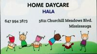 Home daycare in Churchill Meadows area