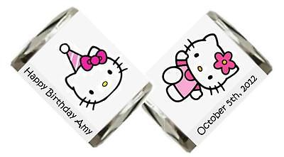 30 Personalized Hello Kitty Birthday Hershey Nugget Candy Labels Wrappers](Kitty Birthday)