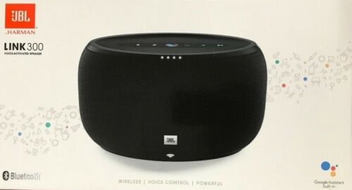 JBL LINK 300 Wireless Speaker with Google Voice Assistant Black JBLLINK300BLKUS