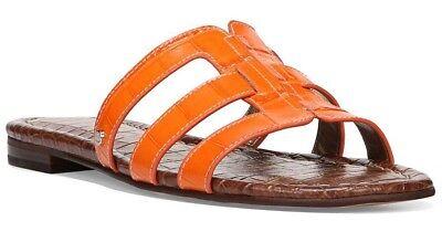 Sam Edelman Berit Strappy Croc-Embossed Flat Slide Sandal Size 7.5 NIB