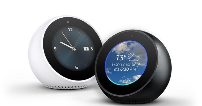 Amazon Echo Spot 🌟 Alexa Smart Assistant ⏰ Alarm Clock with Smart Home Support