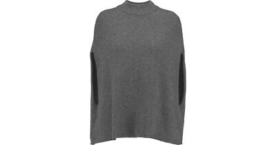 Iris & Ink grey marl 100% cashmere jumper/cape - size S - good condition RRP£199