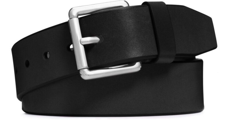 $325 Michael Kors Womens Black Roller Buckle Thin Jet Set Dress Belt Size 2