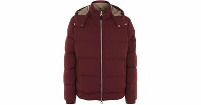 100% AUTHENTIC NEW MEN DUNHILL BURGUNDY DOWN FILLED JACKET/COAT US M