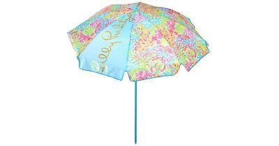 Lilly Pulitzer NWT Beach Umbrella Seaspray Blue Lovers Coral New lower price