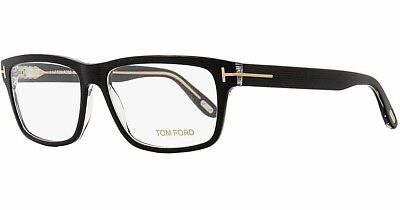 c291dce848180 Tom Ford TF 5320 005 Black Striped Transparent   Demo Lens 56mm Eyeglasses