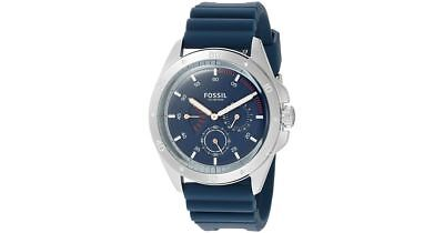 Fossil Chronograph Blue Silicone Strap Sport 54 Men's Watch (CH3062)