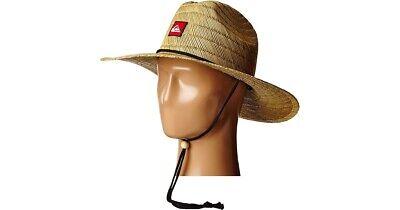 Straw Men Beach Hat Quiksilver Lifeguard Wide Brim Sun Protection Headwear - Straw Sun Hats