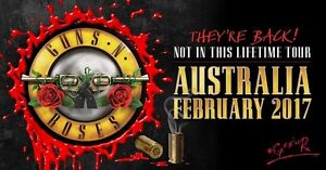 2x guns and roses tickets Adelaide show North Adelaide Adelaide City Preview