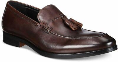 NIB ALFANI Men's Declan Leather Tassel Loafers, Brown Sz. 11