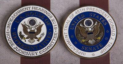 Used, RARE PRESIDENTIAL IMPEACHMENT CHALLENGE COIN SET OF 2 NUMBERED POTUS TRUMP for sale  Shipping to South Africa