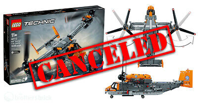 LEGO TECHNIC BELL BOEING 42113 V-22 OSPREY NEW SEALED CANCELLED VERY RARE!