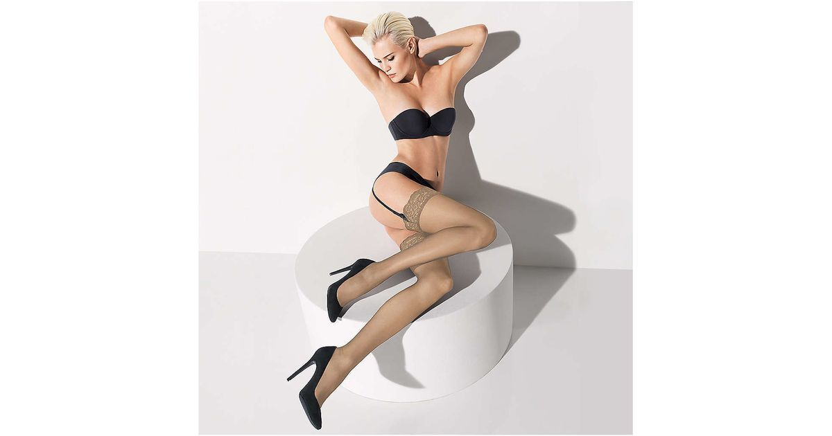 Wolford Affaire 10 Stockings Garter Stocking Color Cosmet...