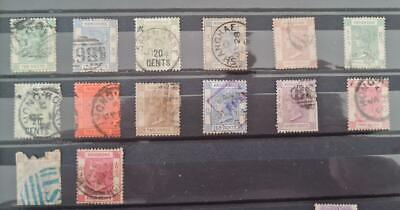 Hong Kong Queen Victoria Small Collection Duplication. Fine Used - Used.