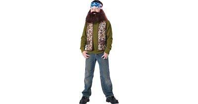 Boys Duck Dynasty Halloween Costume Willie Robertson Bandana Wig Beard Sz 6 8 14